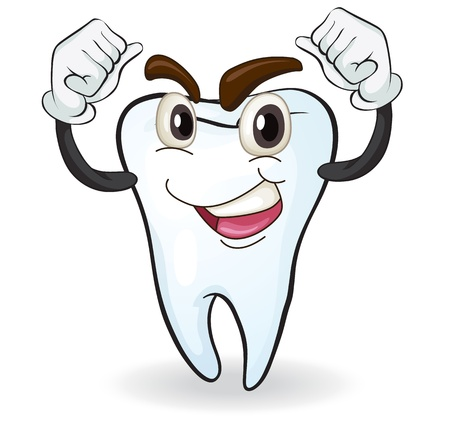 root canal: illustration of a tooth on a white background