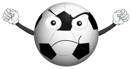 soccer balls: illustration of a football on a white background