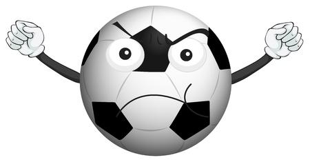 futbol soccer dibujos: Ilustración de un balón de fútbol en un fondo blanco