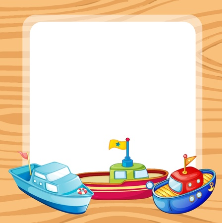 illustration of ships and a window on a white backgound Stock Vector - 15870019