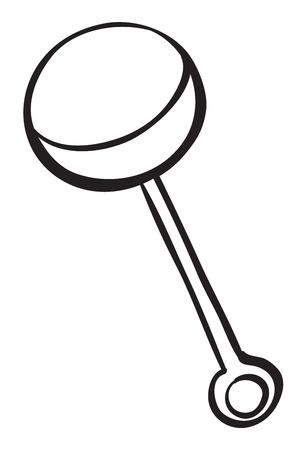 sonaja: ilustración del estertor de un niño Vectores