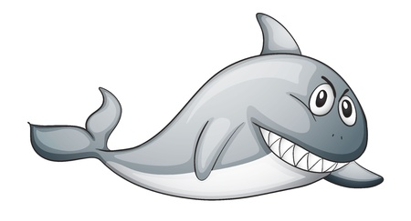 illustration of a shark on a white background Vector