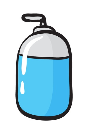 illustration of a bottle sketch on a white background Vector