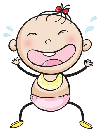 illustrtion of a baby on a white background Vector