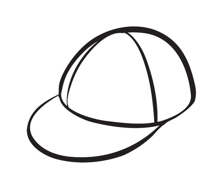 baseball hat: illustration of a cap on a white background