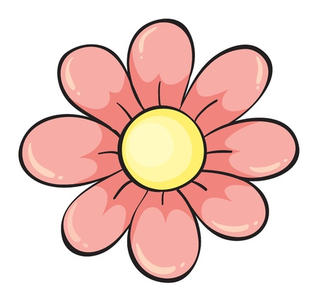 simple flower: illustration of a flower on a white background Illustration