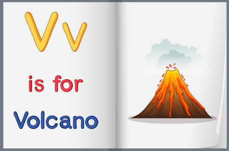 lava: Worksheet teaching a letter and word with picture
