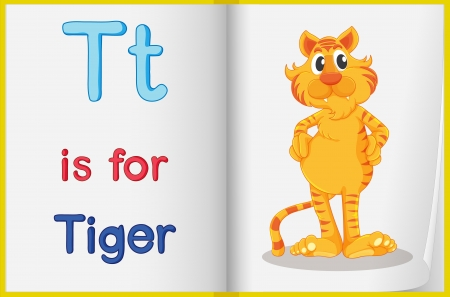 cat alphabet: Worksheet teaching a letter and word with picture