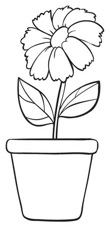 potted: Illustration of a simple flower