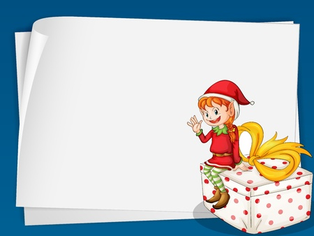 Illustration of a elf card Vector