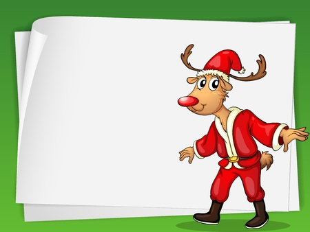 Illustration of a  reindeer card Vector