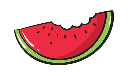 summer diet: Illustration of a simple watermelon