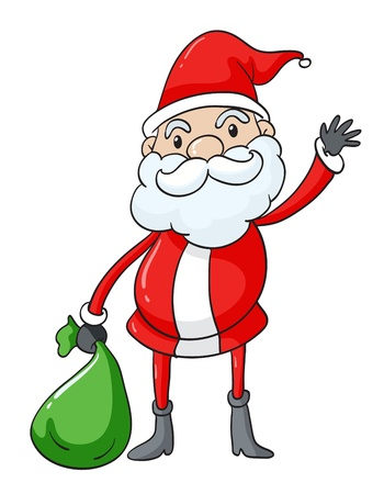 illustration of Santa Claus on a white background Stock Vector - 15943786