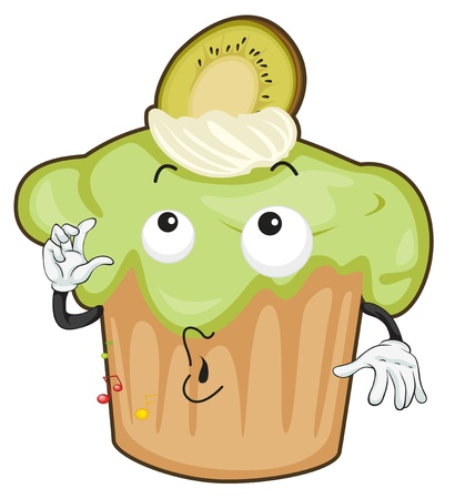 fruit clipart: illustration of a cake on a white background