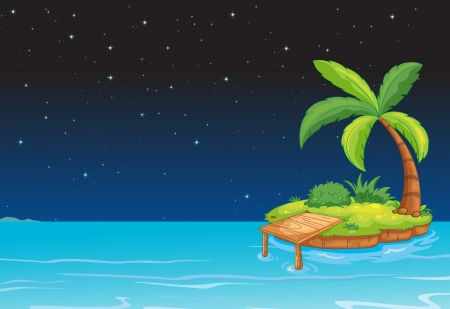 illustration of an island in a beautiful nature Vector