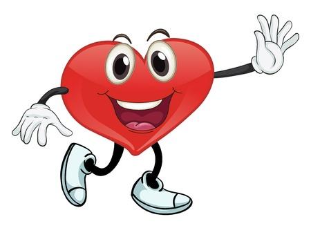 dessin coeur: illustration d'un coeur sur un fond blanc