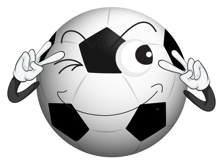 blink: illustration of a football on a white background