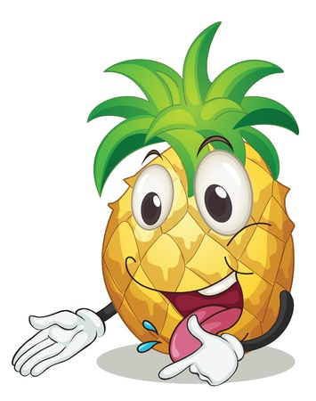 illustration of a pineapple on a white background