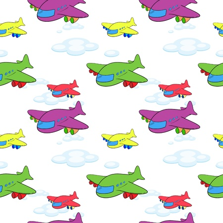 wrap wrapped: illustration of aeroplanes on a white background