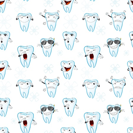 wrap wrapped: illustration of a tooths on a white background