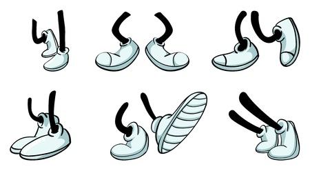 partes del cuerpo humano: ilustración de varios tramos con zapato
