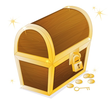 illustration of a jewellery box on a white background Vector