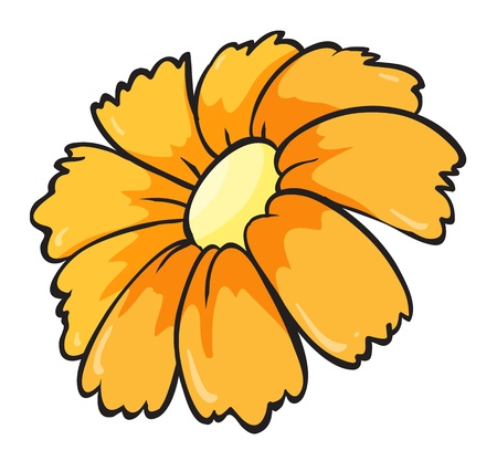 illustration of a flower on a white background Stock Vector - 15946589