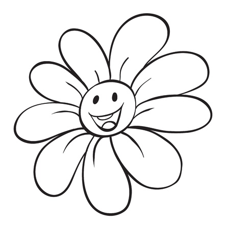 illustration of a flower sketch on white background Stock Vector - 15946588