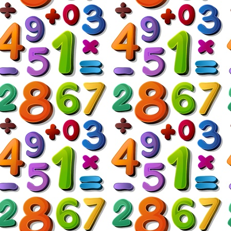 ilustración de números sobre un fondo azul
