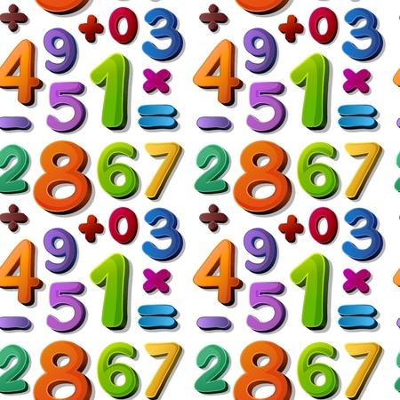 simbolos matematicos: ilustraci�n de n�meros sobre un fondo azul