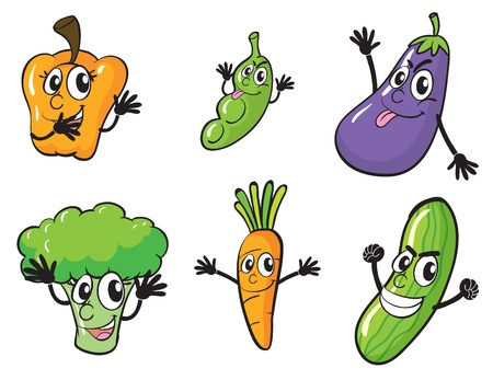 illustration of various vegetables on a white background Stock Vector - 15946580