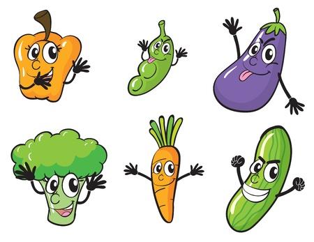 illustration of vaus vegetables on a white background Stock Vector - 15946580