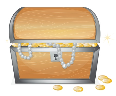 illustration of a jewellery and a box on a white background Vector