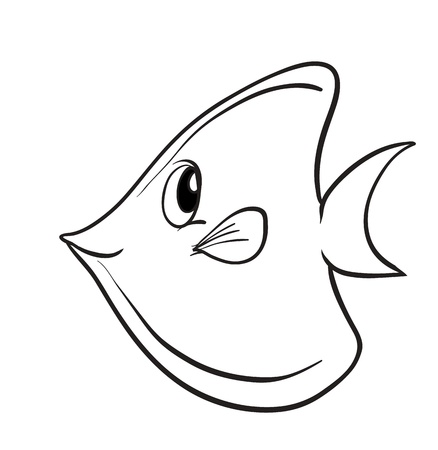 simple fish: illustration of a fish on a white background