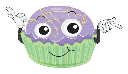 illustration of a cake on a white background Vector