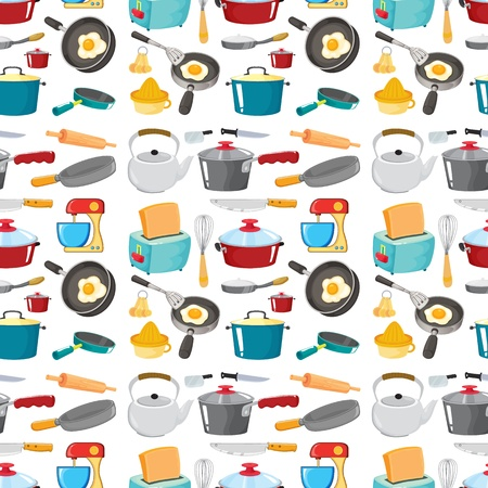 juicer: illustration of various objects on a white background Illustration