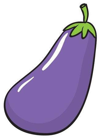 aubergine: Illustration eines Auberginen auf wei�em Hintergrund