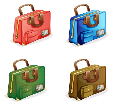 illustration of suitcases on a white background Vector