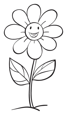illustration of a flower sketch on white background Stock Vector - 15946764