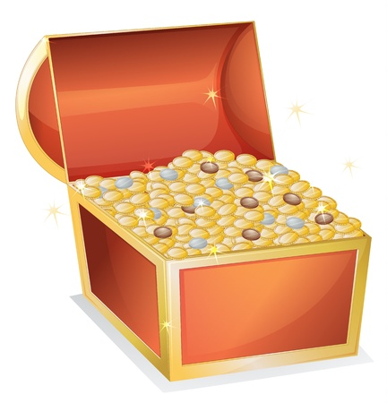 illustration of a treasure box on a white background Vector