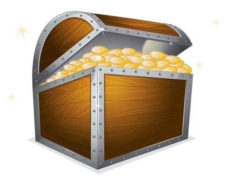 illustration of a treasure box on a white background Stock Vector - 16027239