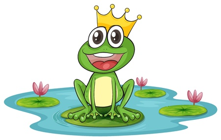 illustration of a frog and water on a white background Stock Vector - 16027169