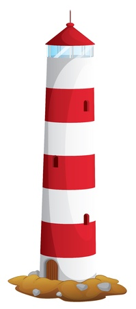 illustration of a light house on a white background Stock Vector - 16027134