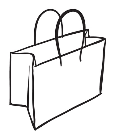 illustration of a bag sketch on white background Stock Vector - 16115148