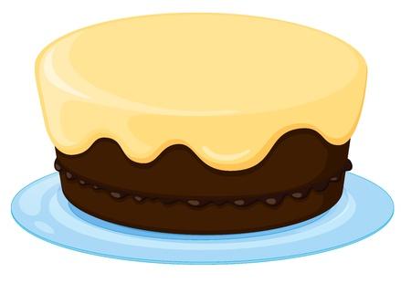 minature: illustrazione di una torta su sfondo bianco Vettoriali