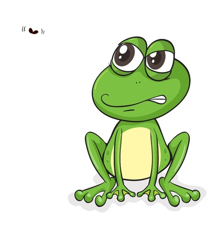 illustration of a frog and insect on a white background Illustration