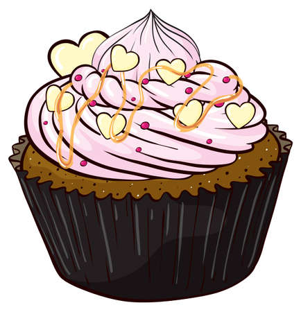 food: Illustration of an isolated cupcake