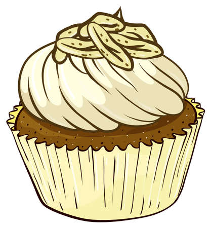 Illustration of an isolated cupcake Stock Vector - 16115308