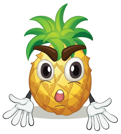 food clipart: illustration of a pineapple on a white background