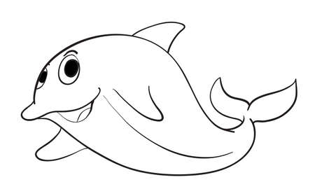 illustration of a fish on a white background Vector